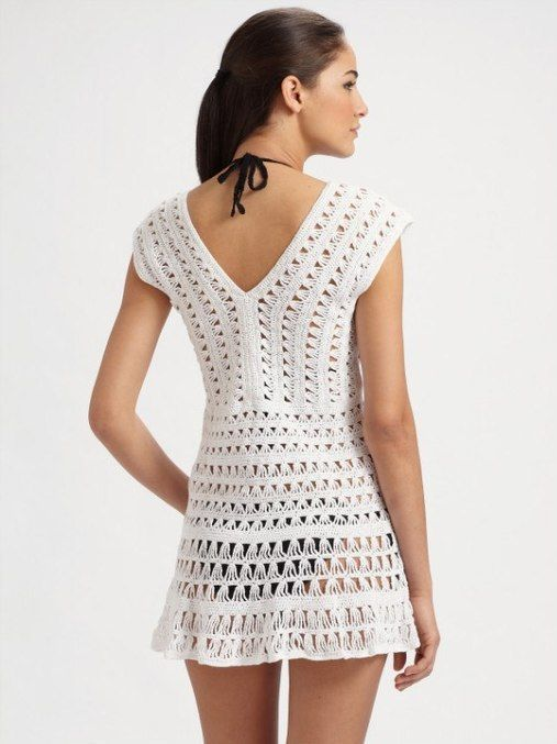 Patrones de vestidos de playa tejidos a crochet – Moda Española ...