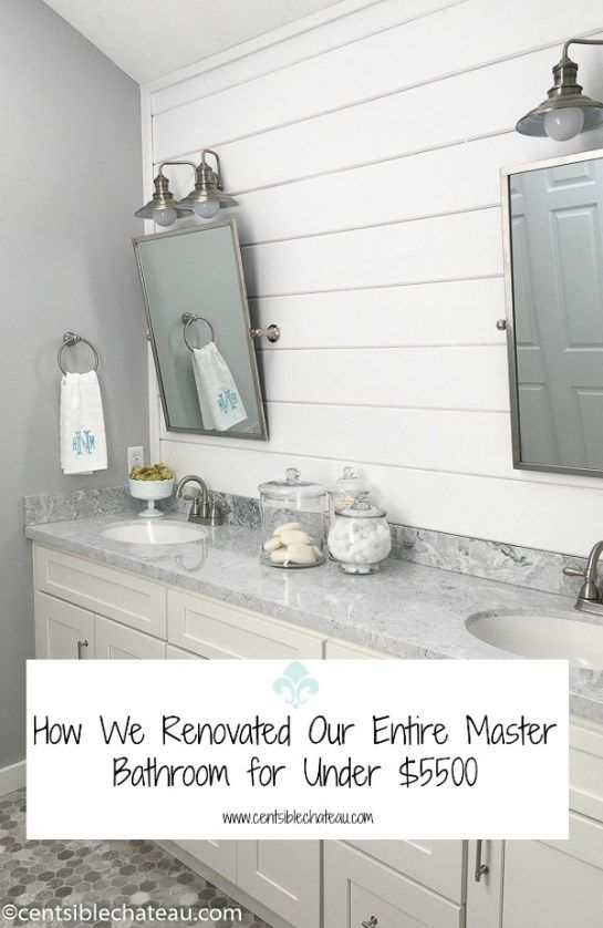 Master Bathroom Makeover | Centsible Chateau -  Featured At The Home Matters Linky Party 125