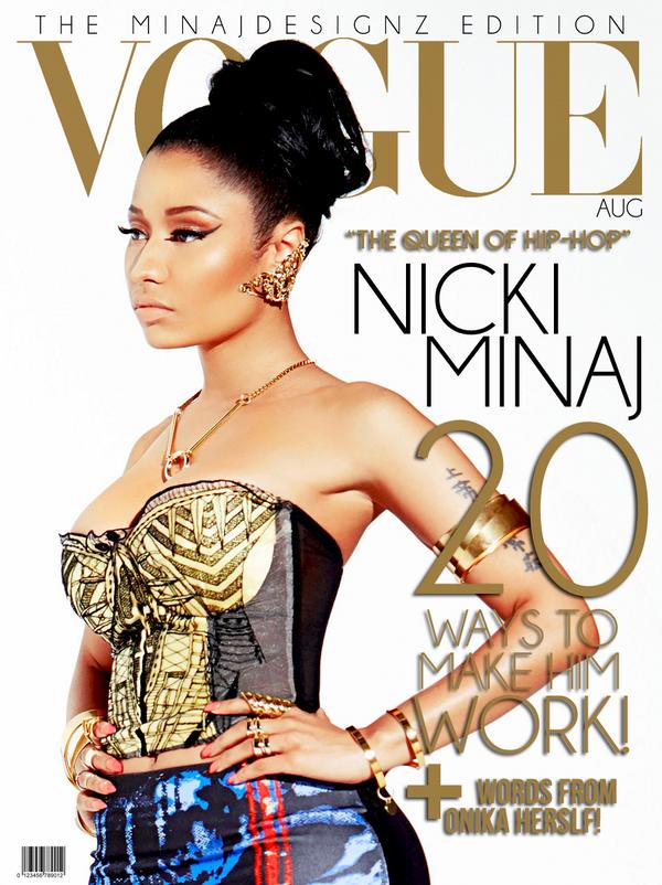 Nicki Follow Me On Twitter Nicki Minaj Wonder Woman Vogue Magazine