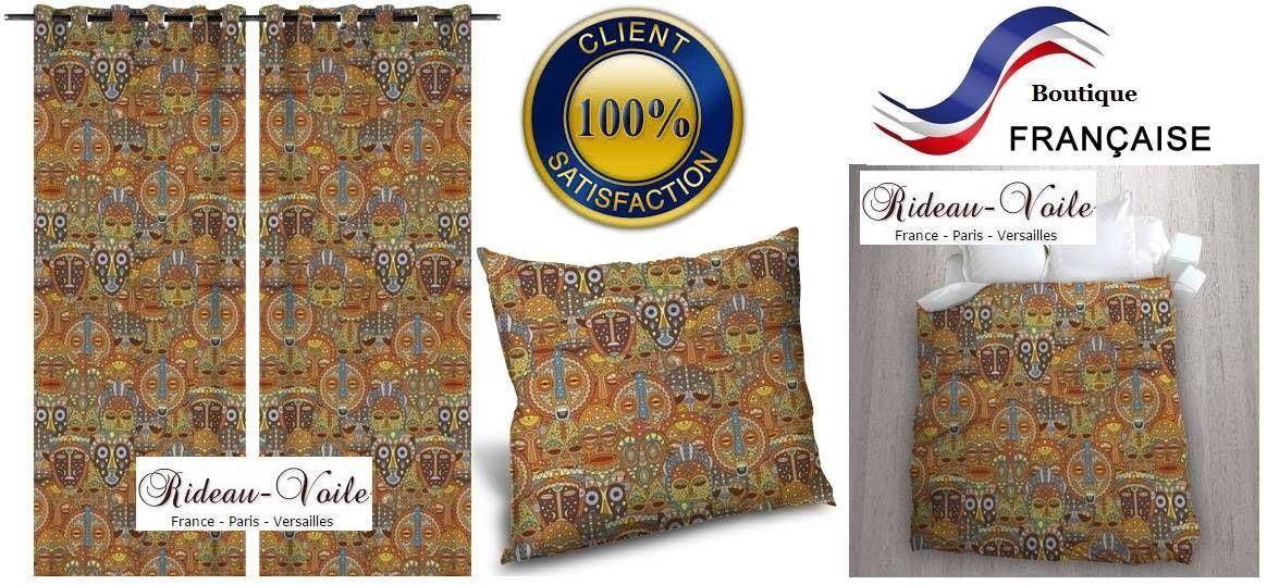 housse couette coussin rideau tissu textile motif imprim pagne wax style africain afrique kente. Black Bedroom Furniture Sets. Home Design Ideas