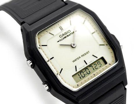 6521432862f Relógio Casio Illuminator AQ-51-7b Ana Digi Retro Vintage (raridade ...