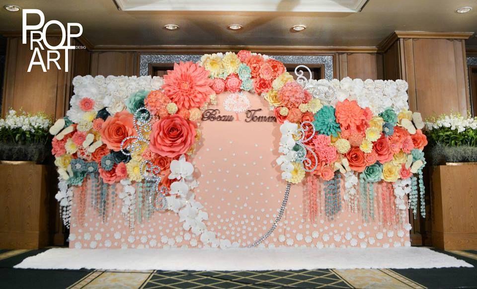 Wedding Paper Flowers Wall Paper Flower Backdrop Paper Flower