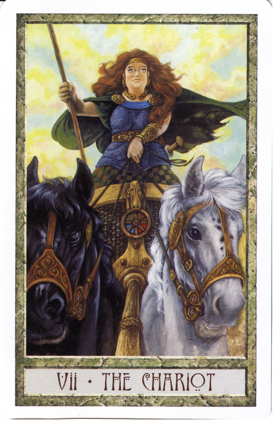 VII  The Chariot - Druidcraft Tarot by Stephanie and Philip