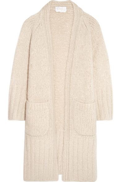 Chloé | Chunky-knit mohair, wool and cashmere-blend cardigan | NET-A-PORTER.COM