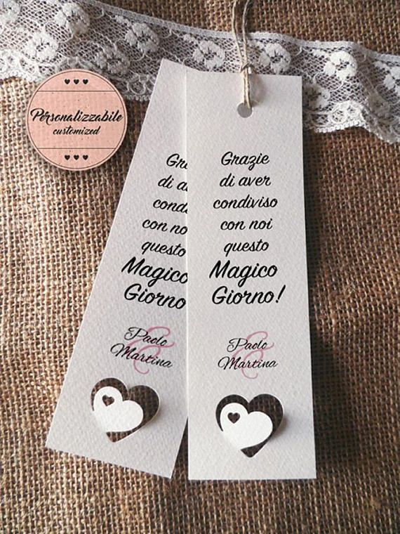 Segnaposto Matrimonio 1 Euro.Wedding Placeholders Customizable Wedding Bookmark Remember