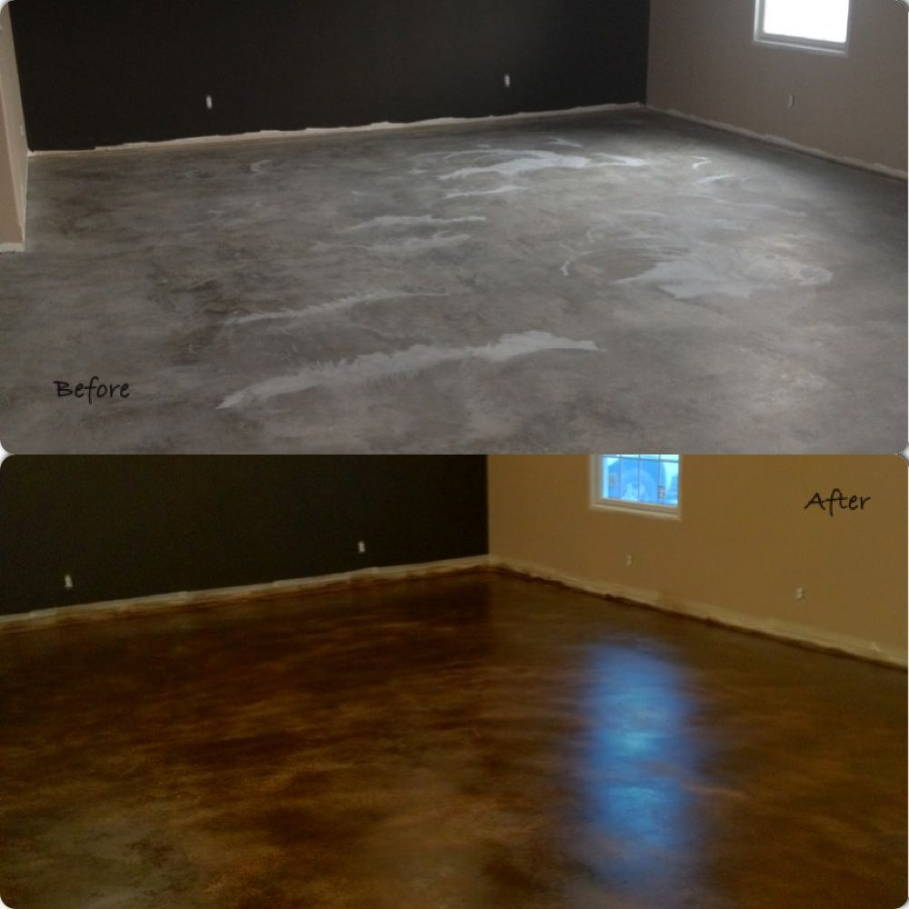 Stained Concrete-Rustoleum-Coastal Rock