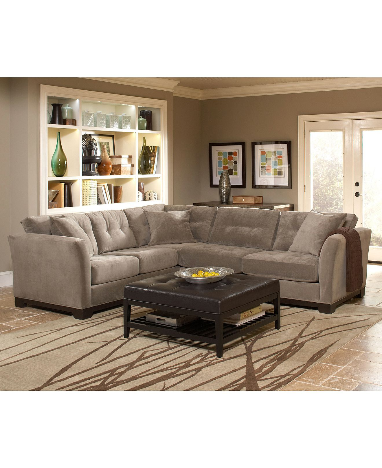 macy s elliot sofa full beds closeout fabric sectional collection created for