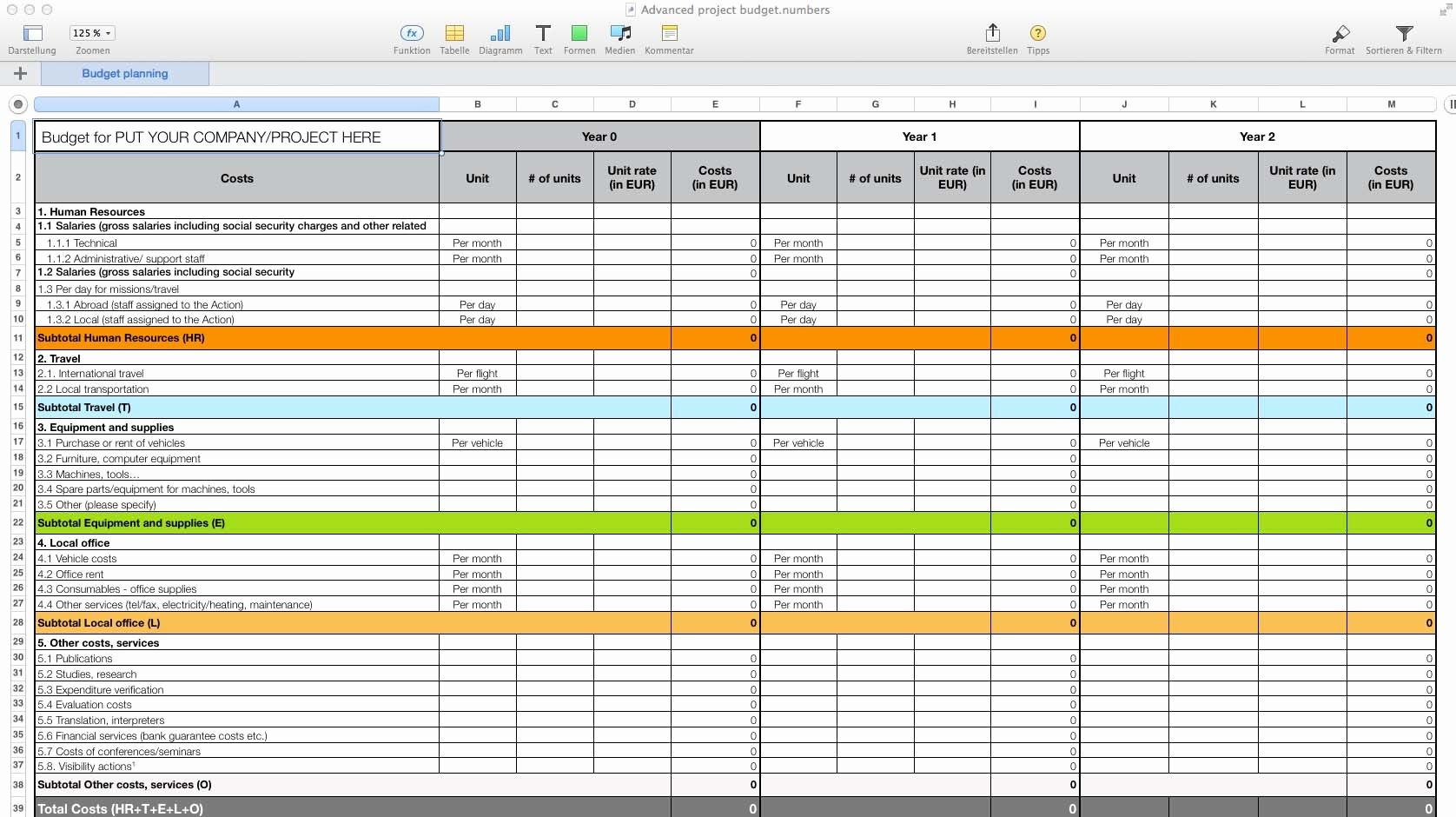 Free Budget Spreadsheet for Mac di 2020