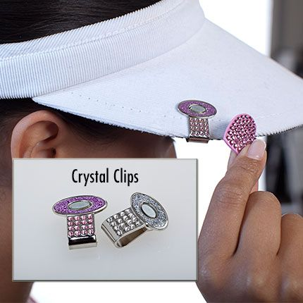 Time To Upgrade Your Standard Magnetic Ball Marker Hat Clip Get One Of Navika S Stunning Crystal Hat Clips In Pin Womens Golf Fashion Golf Jewelry Golf Outfit