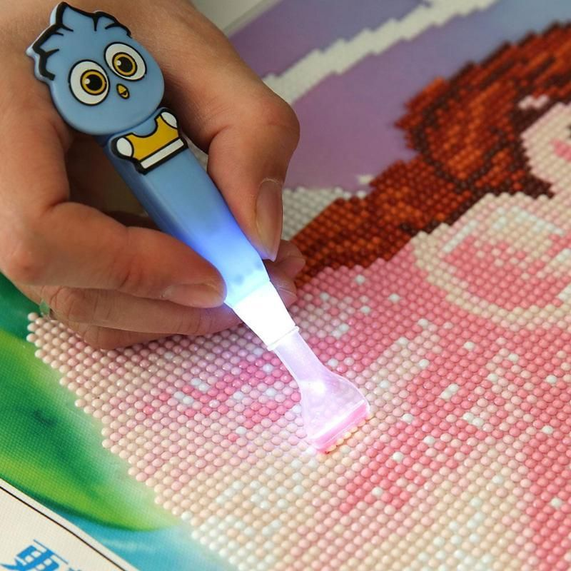 Stitch Diamond Painting Pen 5D Diamond Painting Tool Point Drill Pen Lighting