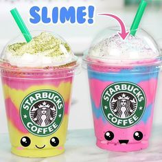 Helllloooo my kawaii diy friends new video up today on how to how else knows how to make these starbucks unicorn mermaiddragon frappuccino slime ccuart Gallery