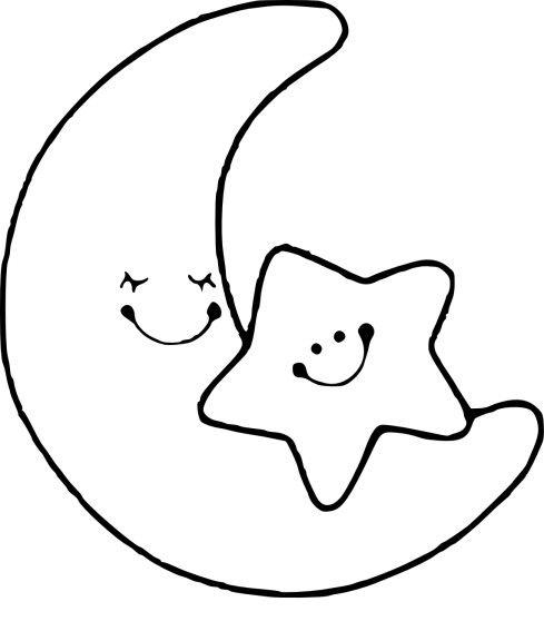 Coloriage Lune Et Etoile Coloriage Etoile Coloriage Soleil Lune Dessin