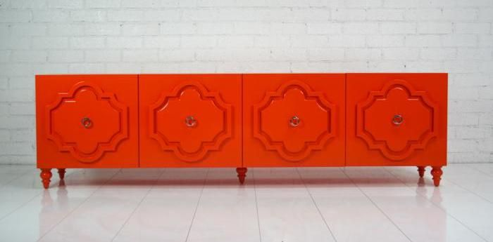 Marrakesh Credenza in Tangerine
