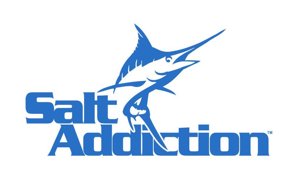 Salt addiction marlin decal sticker saltwater fishing reel life ocean