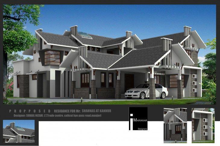 Home Designers Elevation Design Indian Home Design Naksha Design Bedroom Modern Sq Ft Villa