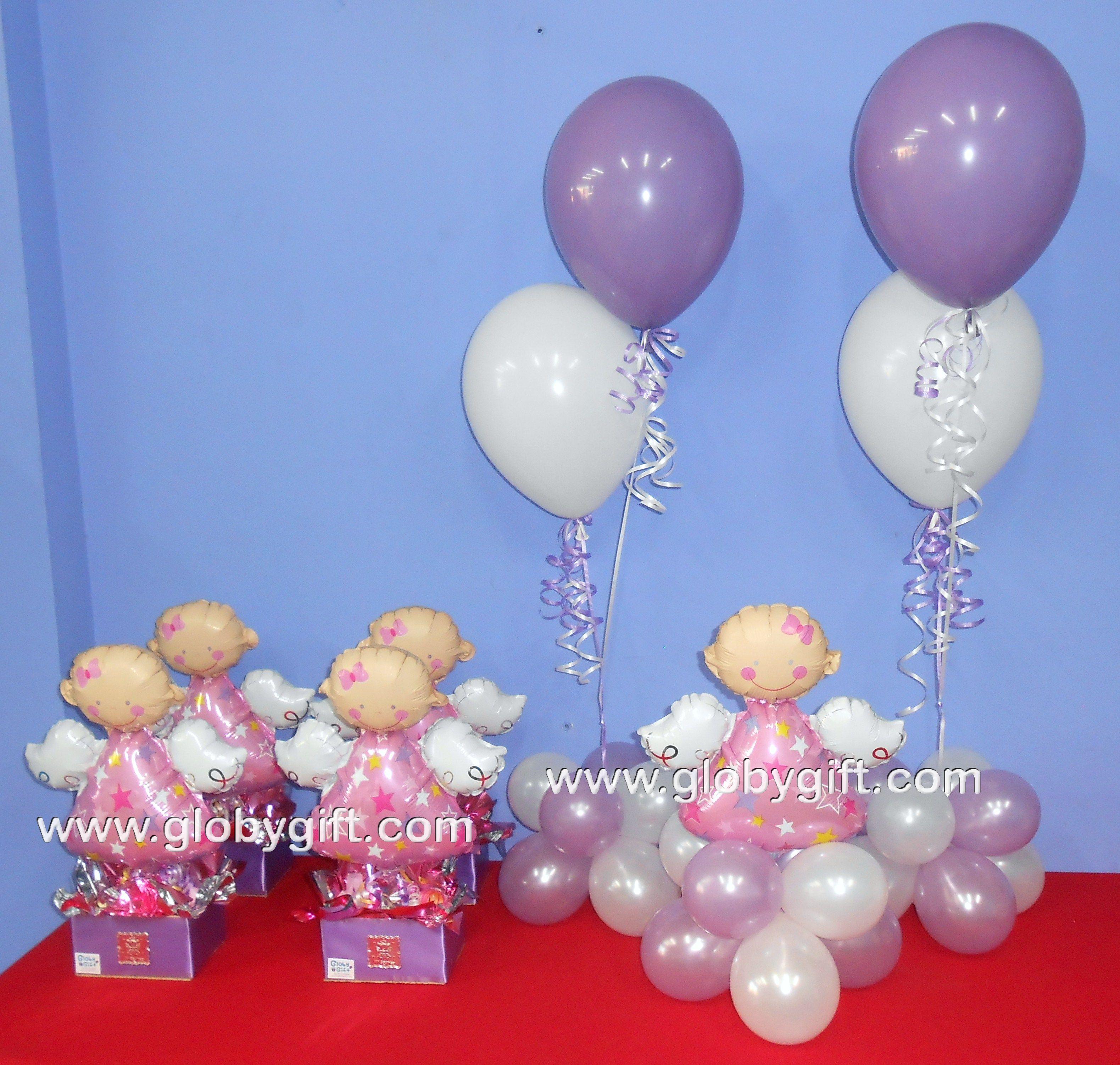 Arreglos Y Centros De Mesa Para Un Bautizo Baby Showersballoonchristening