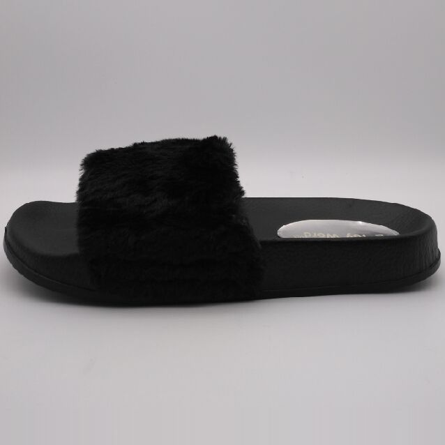 Fluffy Slippers Summer Fashion Outside Women's Shoes Wear Bottom bottom Large Flat Bottomed Out Women's shoes Summer Cool slippe