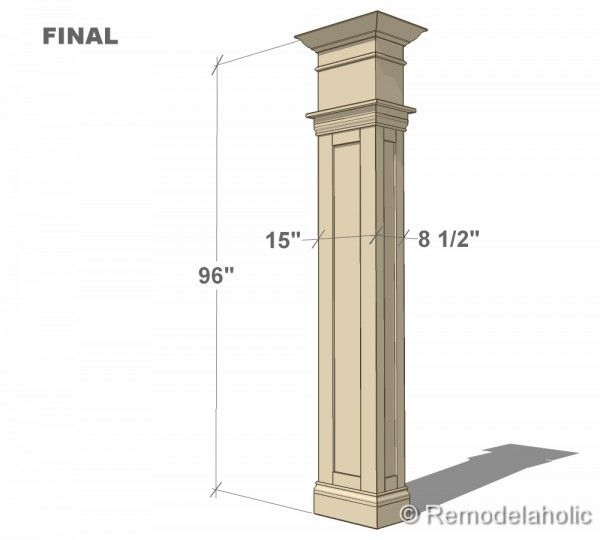Build a custom interior column with free plans from for Columns interior