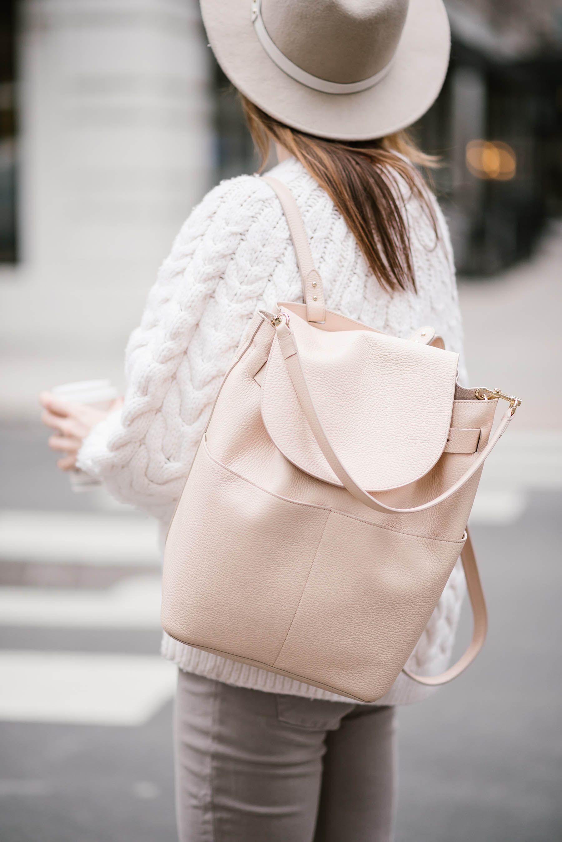 82e9b185d1 cuyana leather backpack and handbag