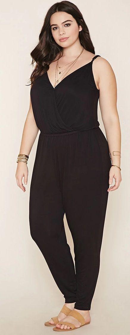 Plus Size Cami Jumpsuit | Big size outfit, Womens ...