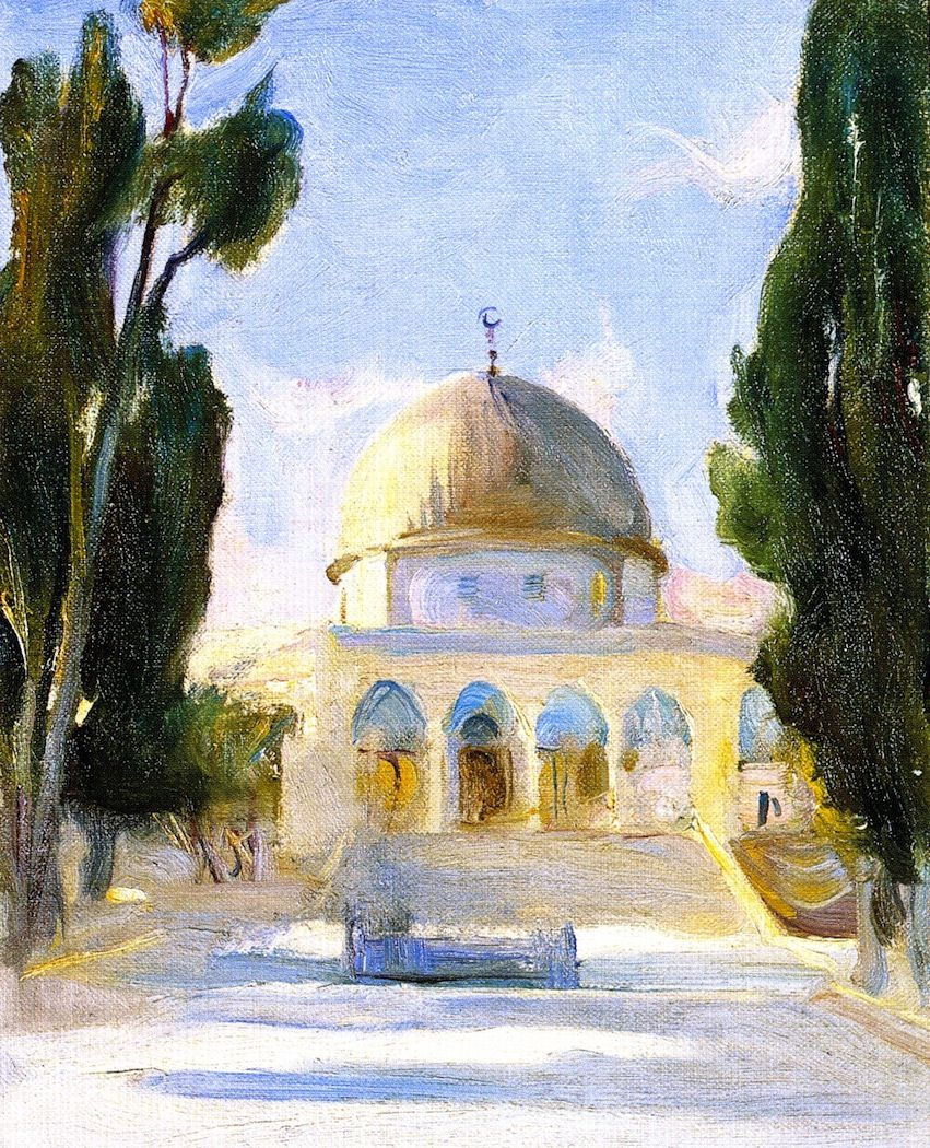 Painting Of The Dome Of The Rock Islamic Paintings Palestine