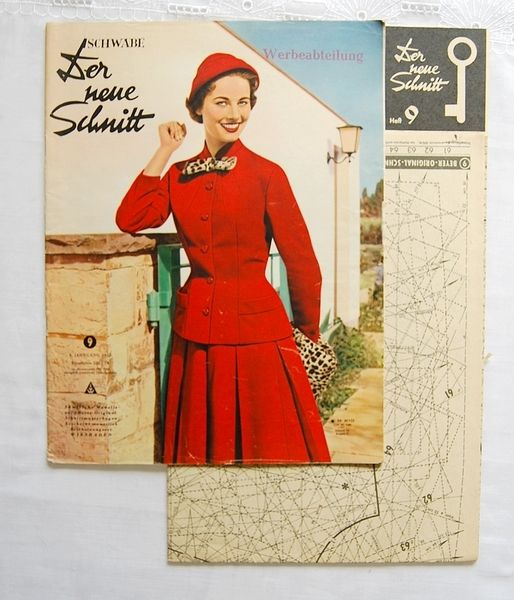 50er Jahre Schnittmuster - Neuer Schnitt 9*1955   Pırpır\'ın Küçük ...