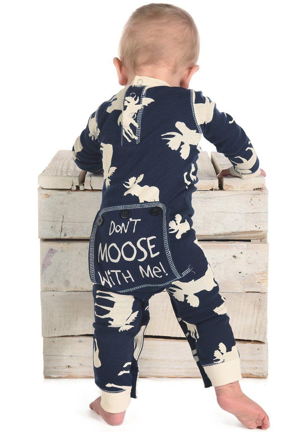 e40c1923d81d LazyOne Infant Flapjack Onesies 12 Month Blue Classic Moose    Read ...