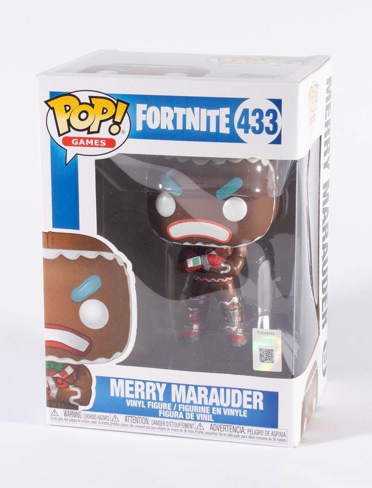 New Funko Pop Games Fortnite Merry Marauder 433 Christmas Nib