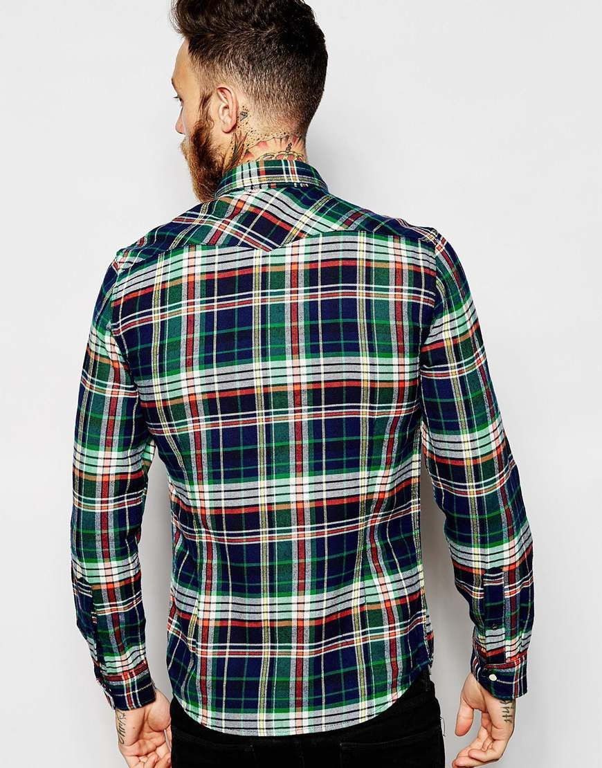 Image 2 ofLee Shirt Slim Fit Western Flannel Check