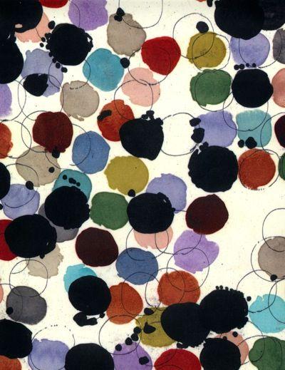 Multi-colored Luli Sanchez handpainted textile