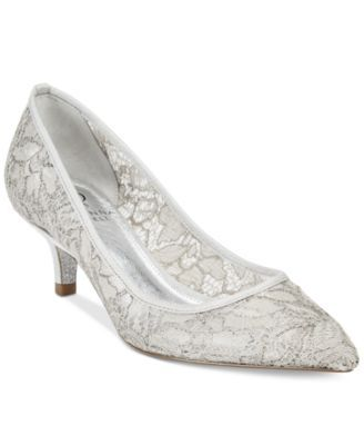 d4120ae4032 Adrianna Papell Lois Lace Pointed-Toe Kitten Heel Pumps