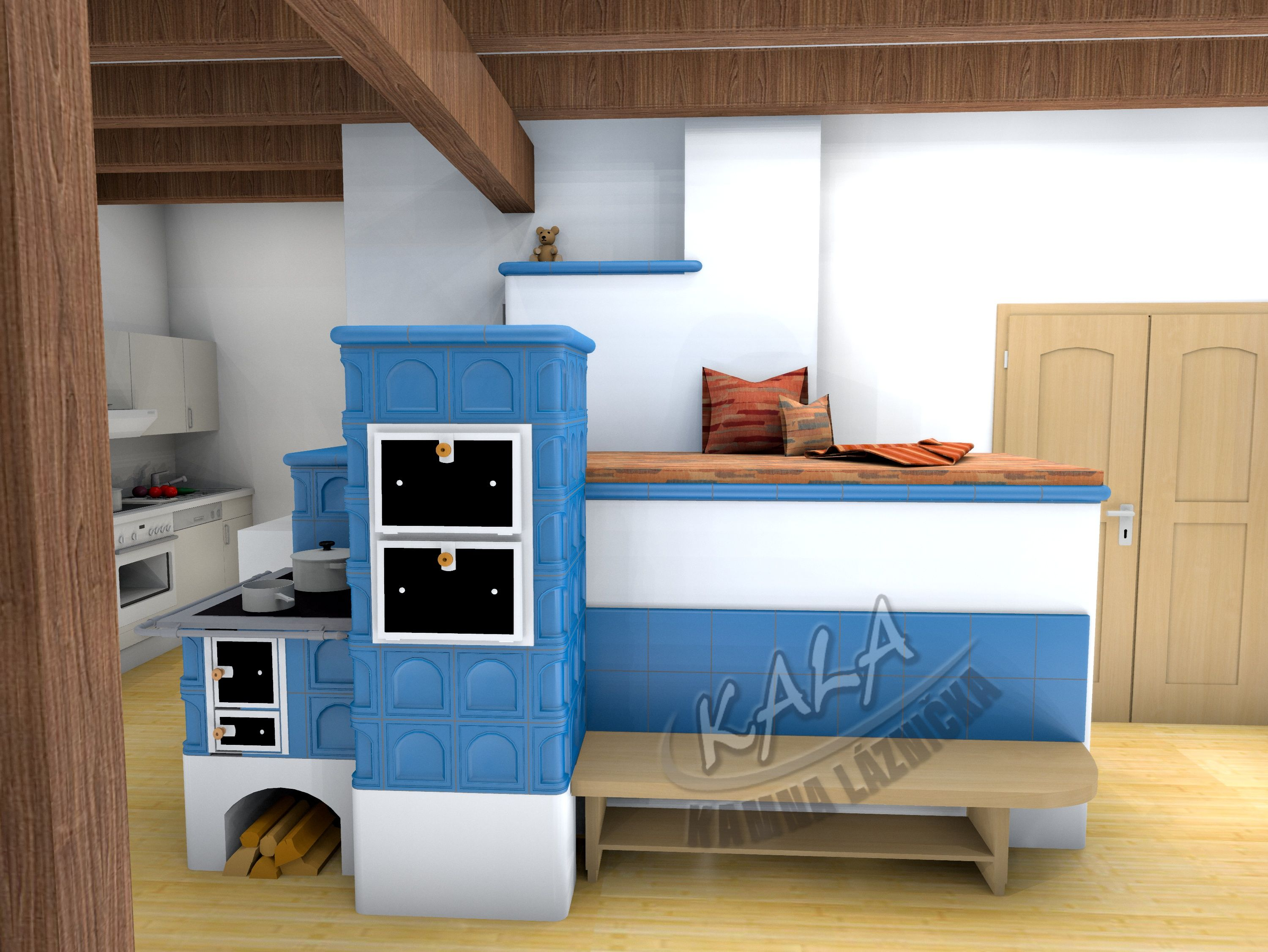 3d vizualizace kachlov spor k s le en m sv t kamen. Black Bedroom Furniture Sets. Home Design Ideas