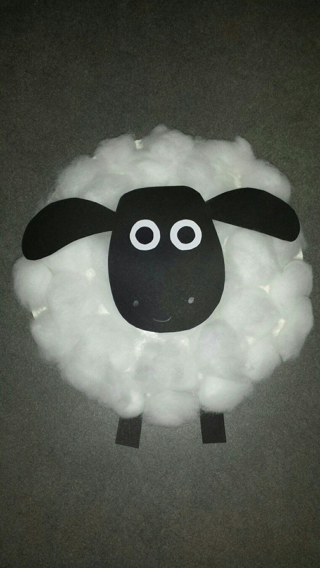 Pappteller Schaf Timmy Shawn Das Schaf Mit Watte Schafe Basteln Basteln Fruhling Kindergarten Osternest Basteln