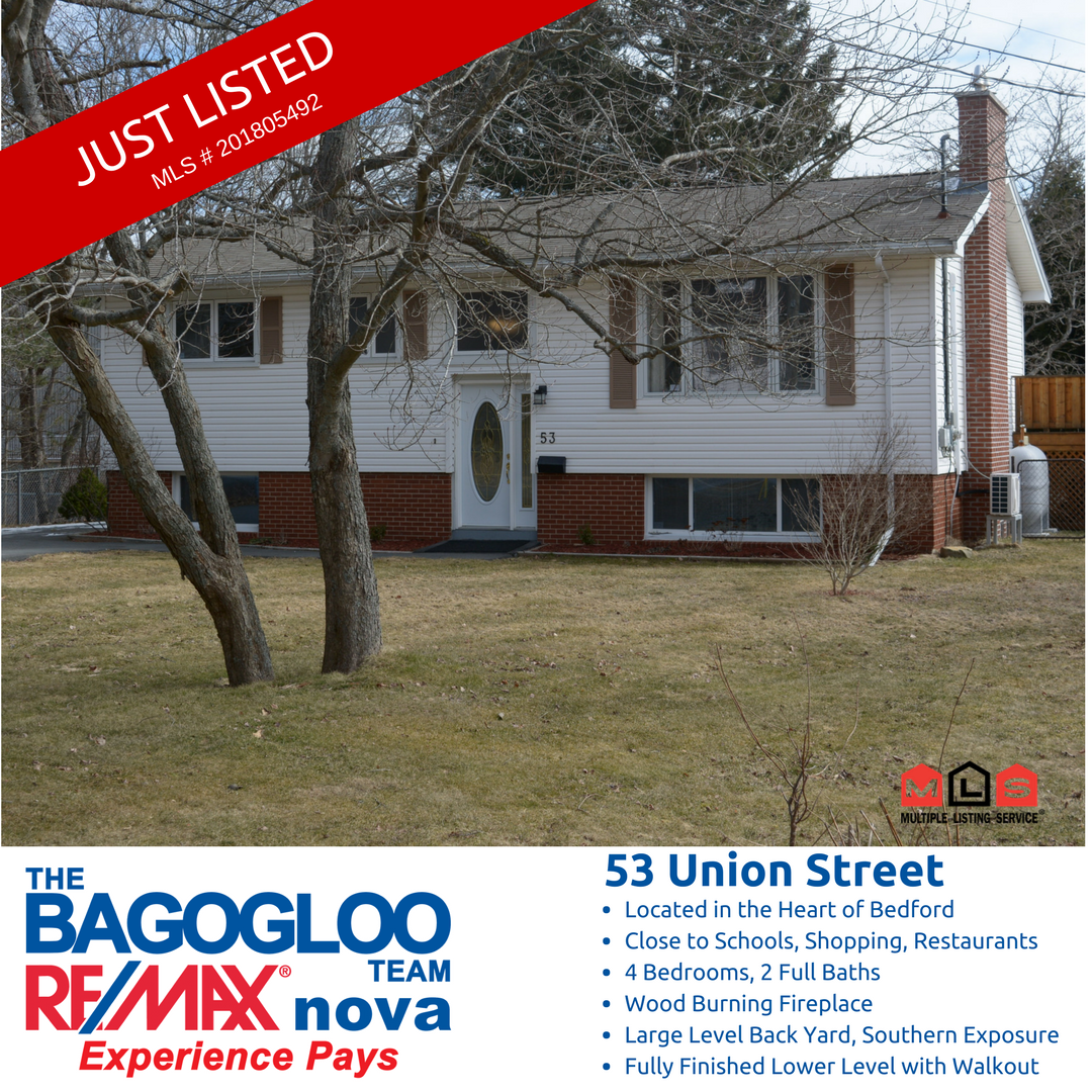 Check Out Our New Listing 53 Union St Mls 201805492 With Images Bedford Nova Scotia Backyard