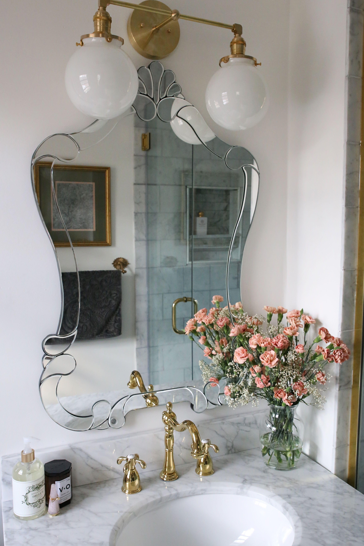 One Room Challenge The Reveal A Small Luxe Parisian Master Bathroom A Glass Of Bovino Parisian Apartment Decor Master Bathroom Renovation Interior