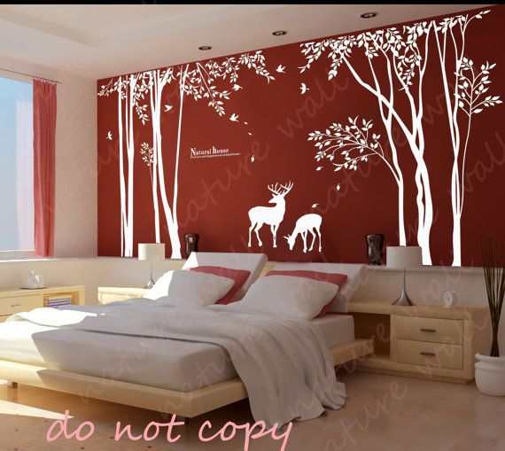 Forest Decals Room Decor Wall Stickers Kids Wall By NatureWall, $120.00