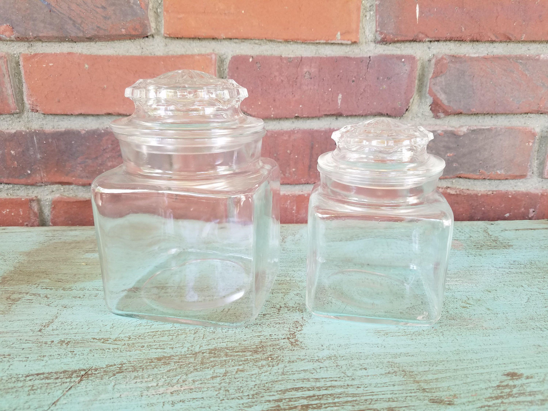 set Vintage glass canister