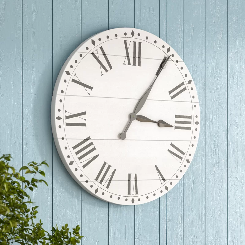 Tavis Farmhouse Wall Clock Farmhouse Wall Clocks Large Wall Clock Wall Clock
