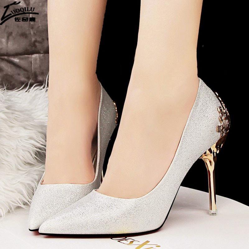 4695d05e3d5 Gorgeous Gold Heel Woman Shoes