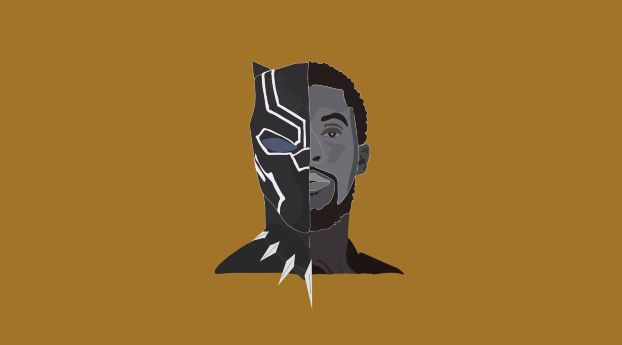 Download Black Panther Chadwick Boseman Movie Minimalism Hd 4k Full