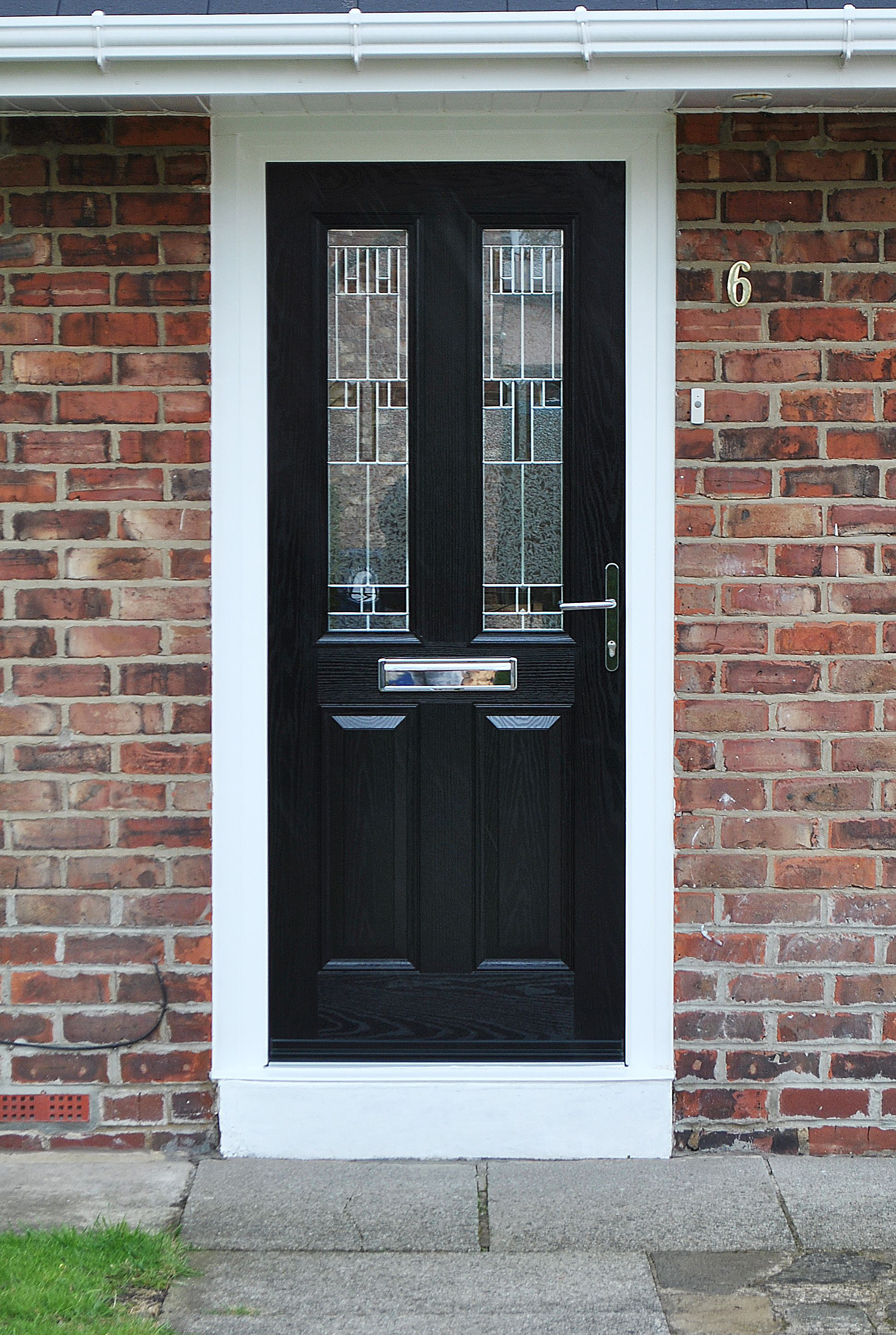 Our most popular door design the black altmore composite with