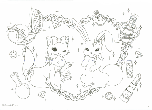 The Angelic Pretty Coloring Book Coloring Books Cute Coloring Pages Angelic Pretty