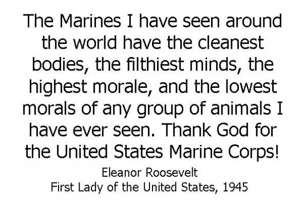 Eleanor Roosevelt Quotes Marines Pindave D'amico On Militaryusmarine Corps  Pinterest