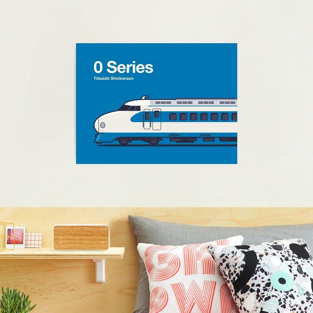Poster of iconic bullet train, the original 0 Series of the Tokaido Shinkansen