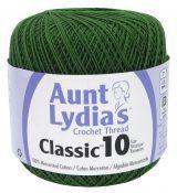 Aunt Lydias Classic Crochet Size 10 forest green