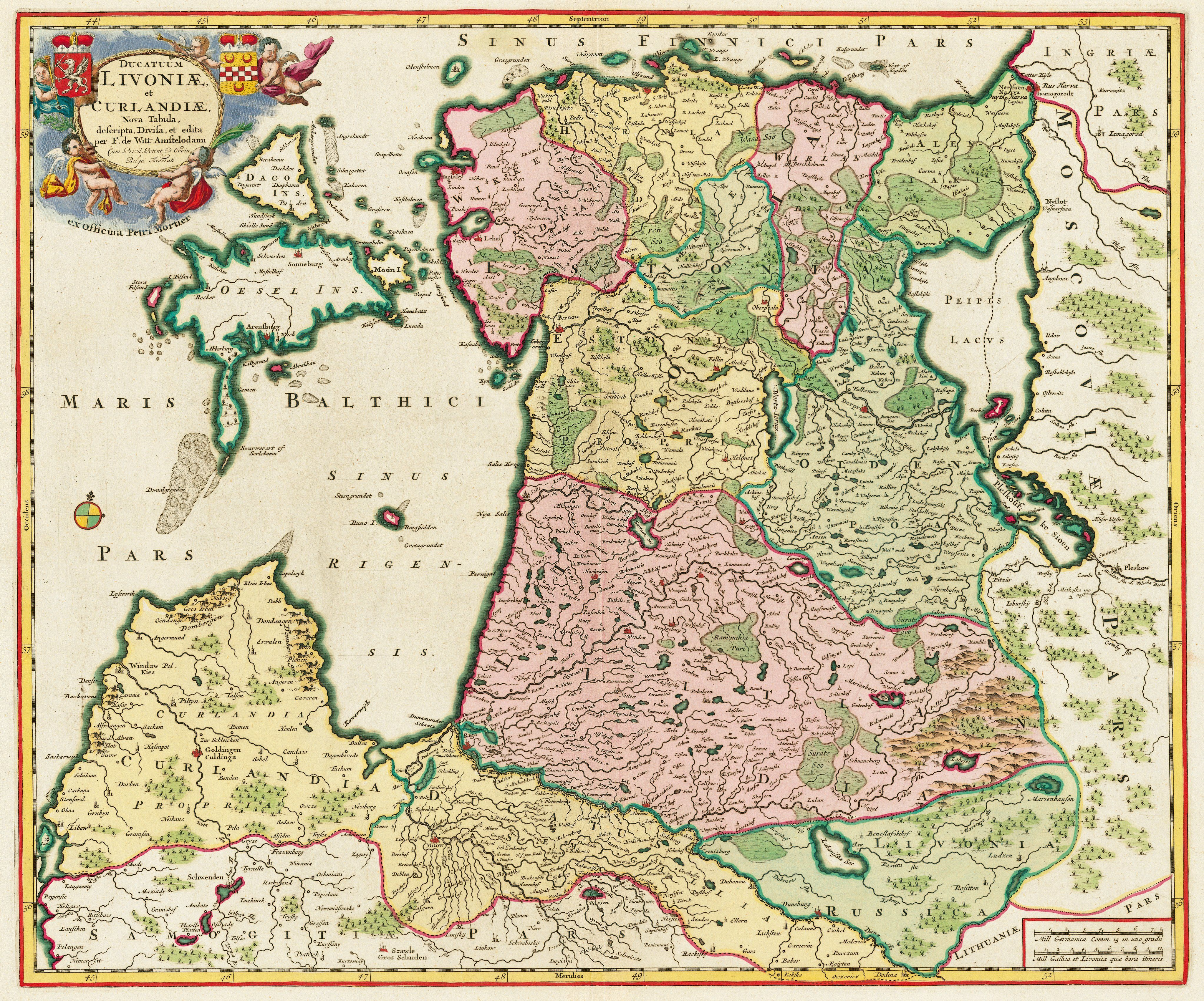 1705 Map Of Latvia And Estonia Map Cartography Old Maps