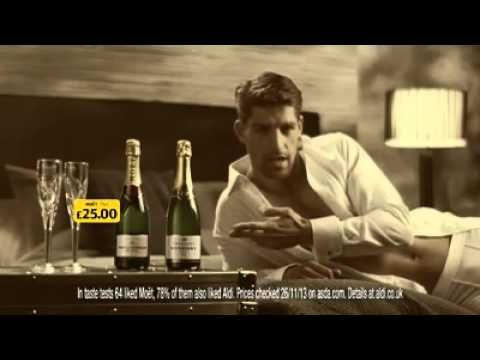 Aldi champagne model advert! (Hilarious) - YouTube