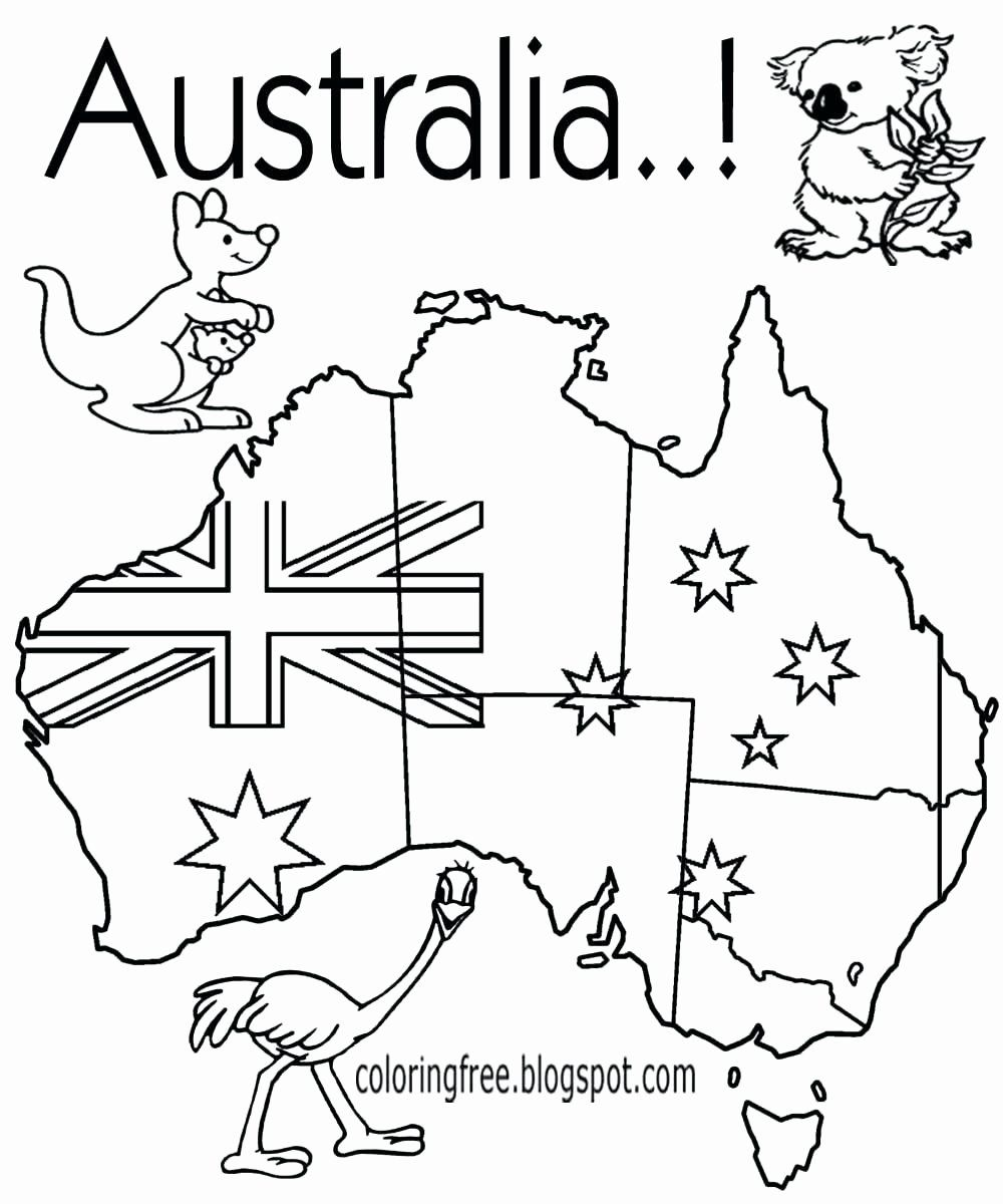 Austria Flag Coloring Page Fresh Australia Coloring Page