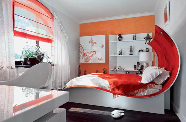 kids room decorating ideas with kid bed in art nouveau style ДОМ