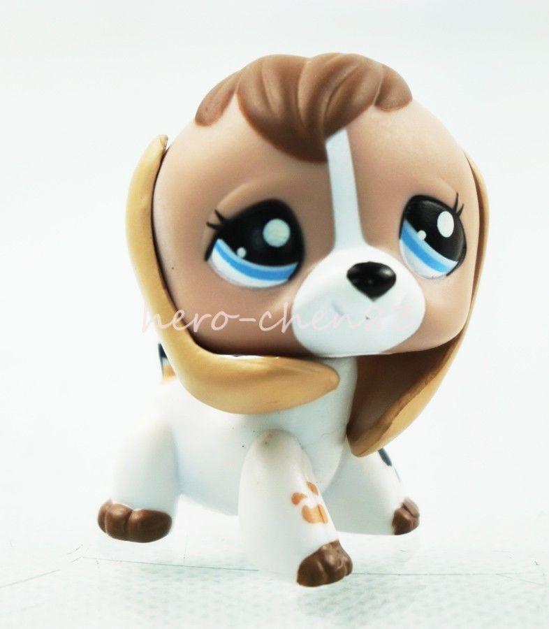 Littlest Pet Shop Lps 2207 Tan White Beige Brown Beagle Dog Puppy